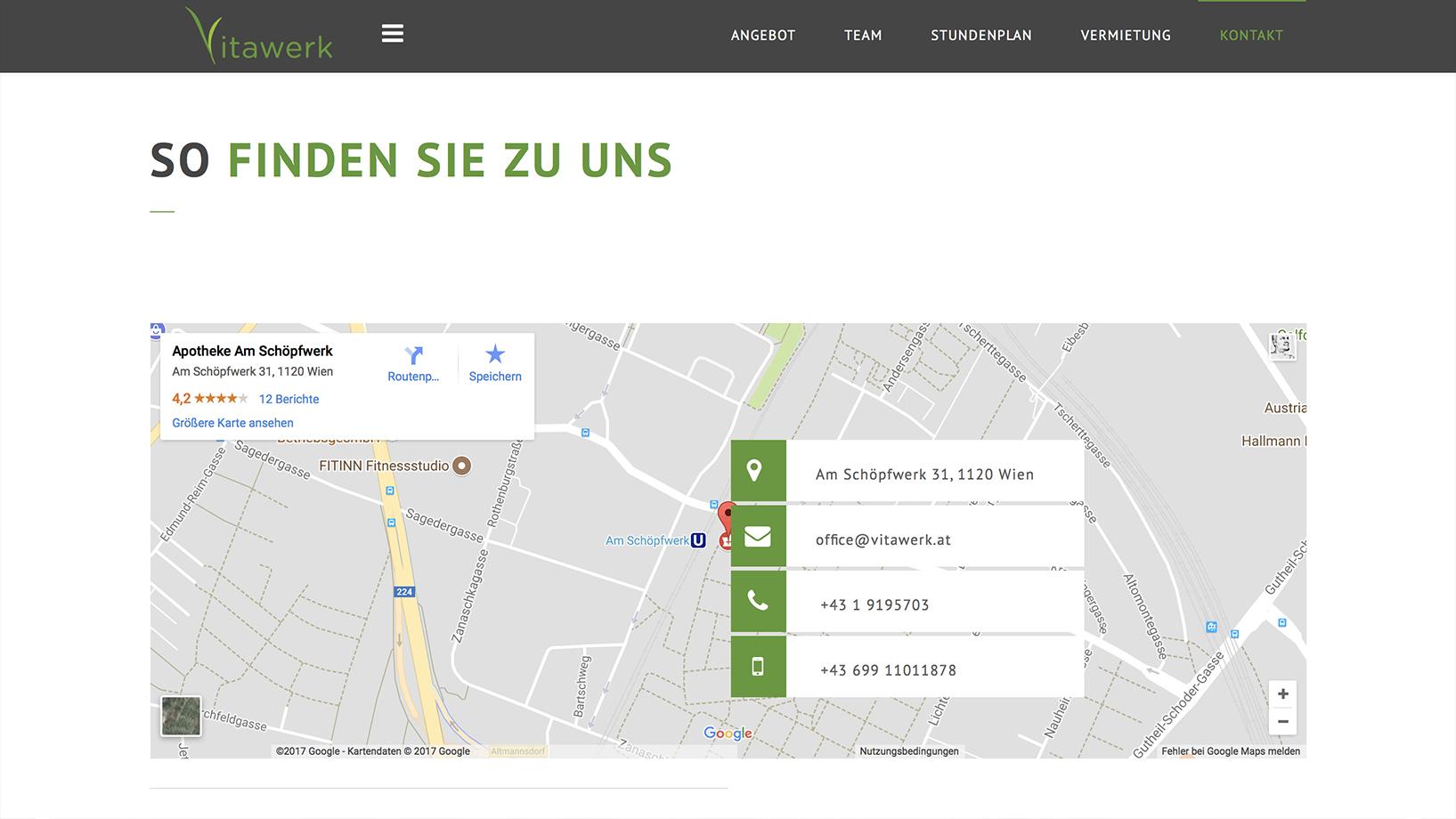 Vitawerk Kontaktpage